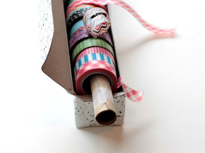 Wax Paper Box to Washi Tape Dispenser via homework (6)