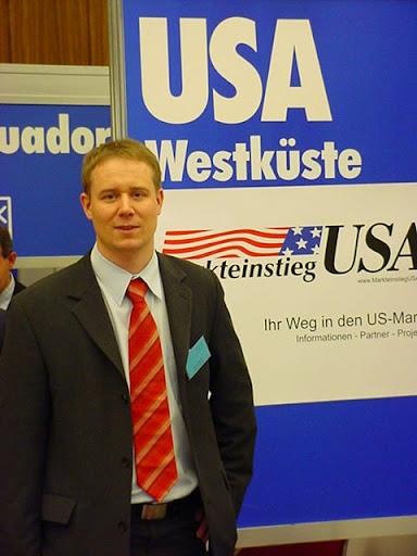 Steve Riedel beim Internationalen Außenwirtschaftstag in Köln