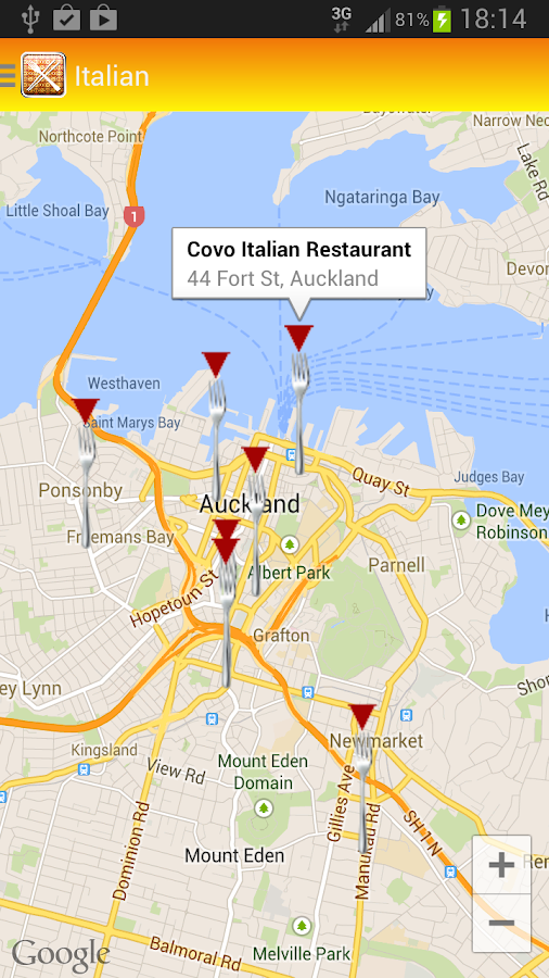 Restaurants Auckland - screenshot
