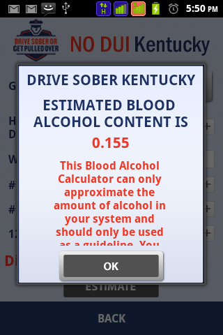 DRIVE SOBER KENTUCKY - screenshot