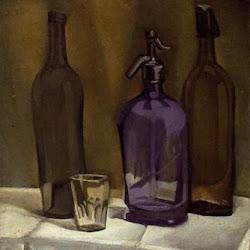 Juan Gris (1910): Siphon et bouteilles. Collection Particulière. Paris. Francia.