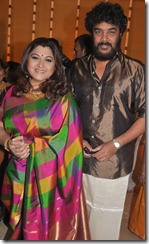 Kushboo, Sundar C at Mirchi Shiva Marriage Photos