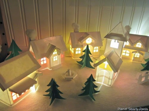 Paper Winter Village from Planet Smarty Pants