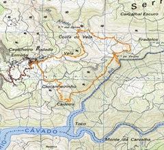 cascatas geres mapa A Caminhar por.: Gerês: Cascatas Taiti cascatas geres mapa