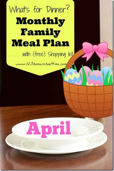 Free April Meal Planner #mealplanner #recipes