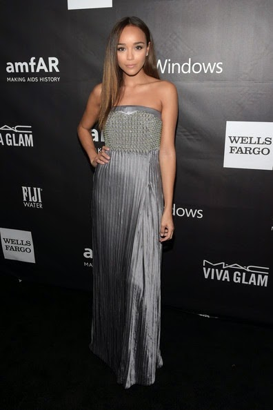 Ashley Madekwe attends the 2014 amfAR LA Inspiration Gala