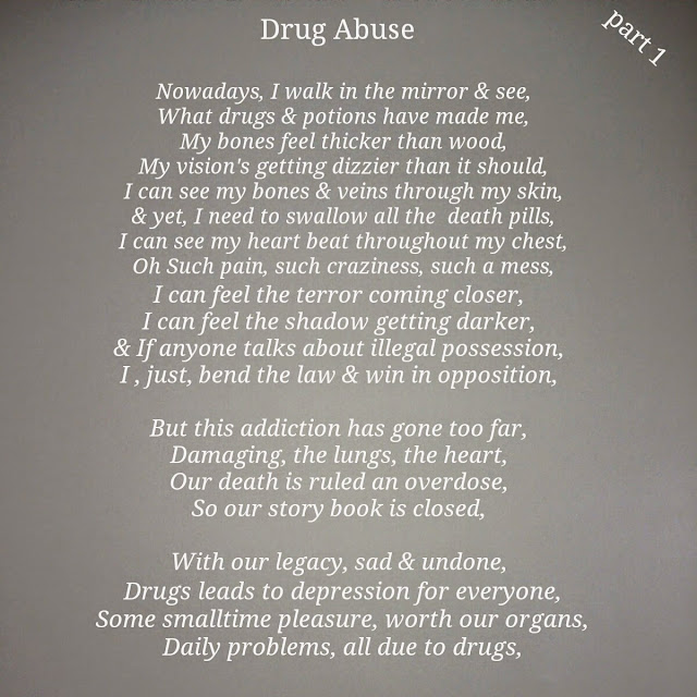 Collection Of The Young Ahmed Poetry Drug Abuse Part 1