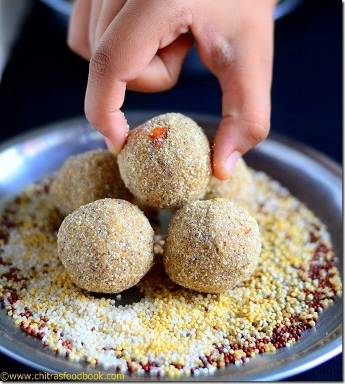 Millet laddu recipemillet ladoo millets recipes chitras food book make this easy and healthy millet ladduenjoy eating and reap its health benefits forumfinder