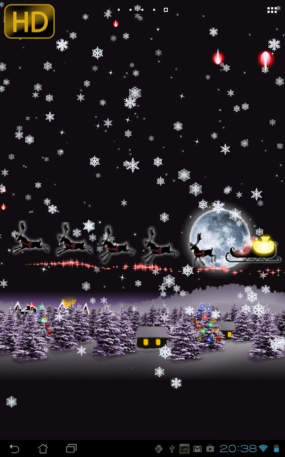 Christmas Live Wallpaper Santa - screenshot