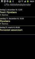 Screenshot of LFSv Aktivitetskalender m.m.