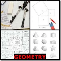 GEOMETRY- 4 Pics 1 Word Answers 3 Letters