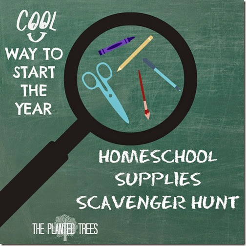 Homeschool Supplies Scavenger Hunt