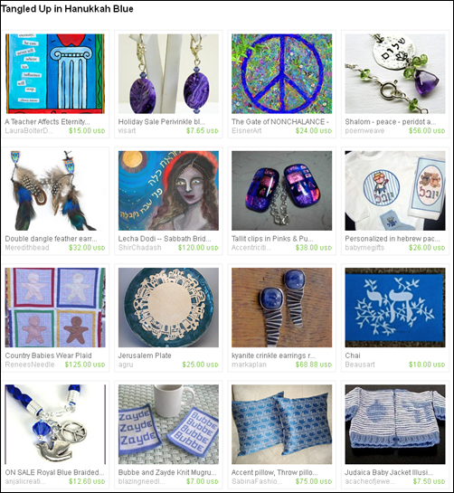 Tangled Up in Hanukkah Blue Treasury