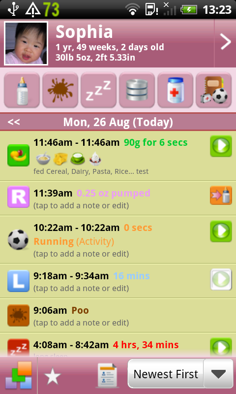Feed Baby Pro - screenshot