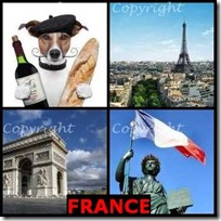 FRANCE- 4 Pics 1 Word Answers 3 Letters