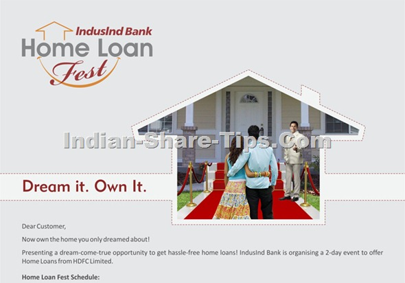 Indusind home loan festival