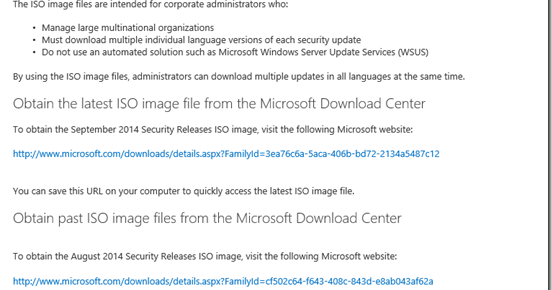 MPECS Inc  Blog: KB913086: Security Updates Available as ISO