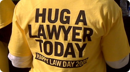 hug a lawyer