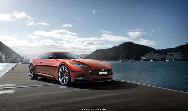 future cars visually musing hyundai s next genesis coupe. Black Bedroom Furniture Sets. Home Design Ideas