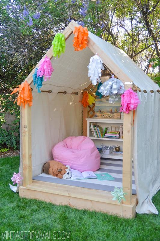 Summer Reading Nook Outdoor Hideaway Plans Part 2 Roof