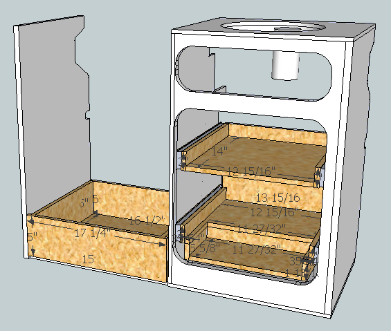 Pull-out Shelves and Under-Fridge Drawer