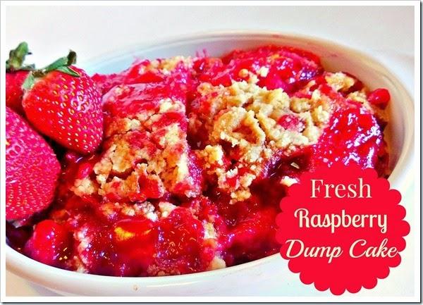 fresh raspberry dump cake