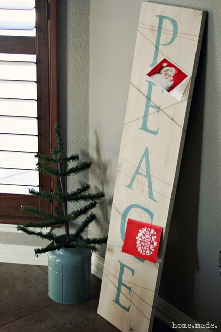 Christmas Card Holder Sign