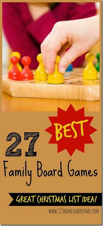 27 BEST Family Board Games - so many great games for families, perfect for making a family Christmas list or for your next family fun night