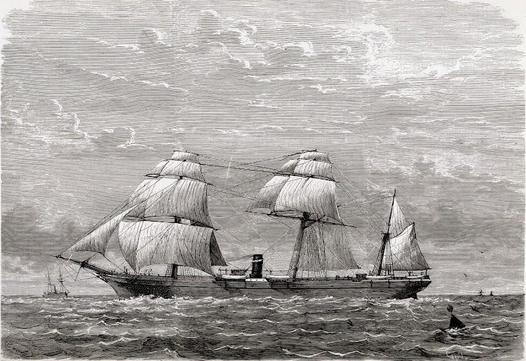 El ALFONSO XII. Del libro De la Mar….Historicos Barcos y Marinas.JPG