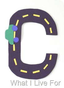 C is for Car @ What I Live For