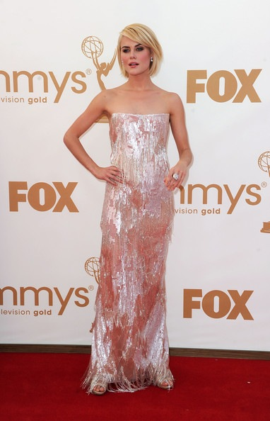 Rachael Taylor arrives at the 63rd Annual Primetime Emmy Awards