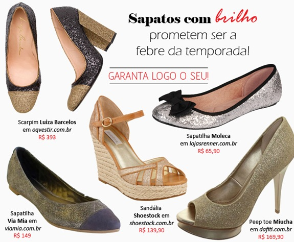 79f9fb752 Sapatos com glitter: Onde comprar online – Confira 5 sugestões ...