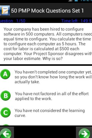 PMP Mock Exam 1000 Questions - screenshot