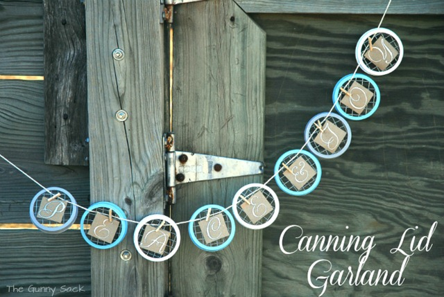 Canning Lid Garland 14