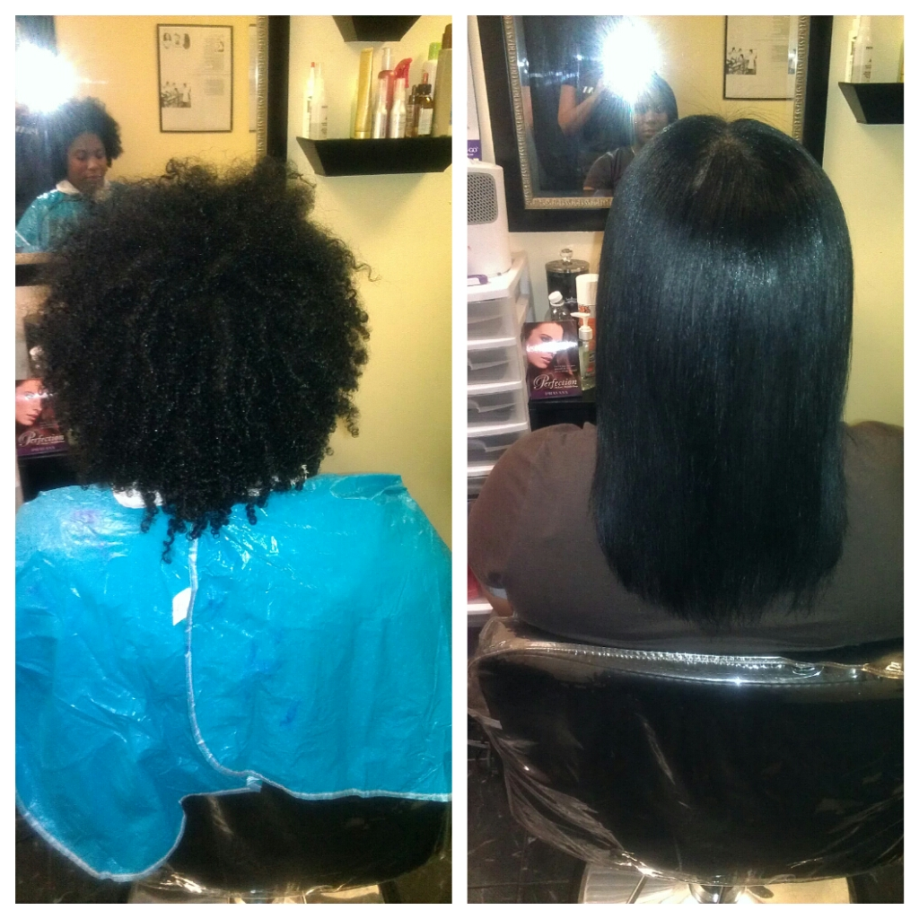 Dominican Blowout At Home On Natural Hair