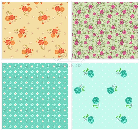 2014 May 12 Spoonflower fabric designs flowers floral pattern