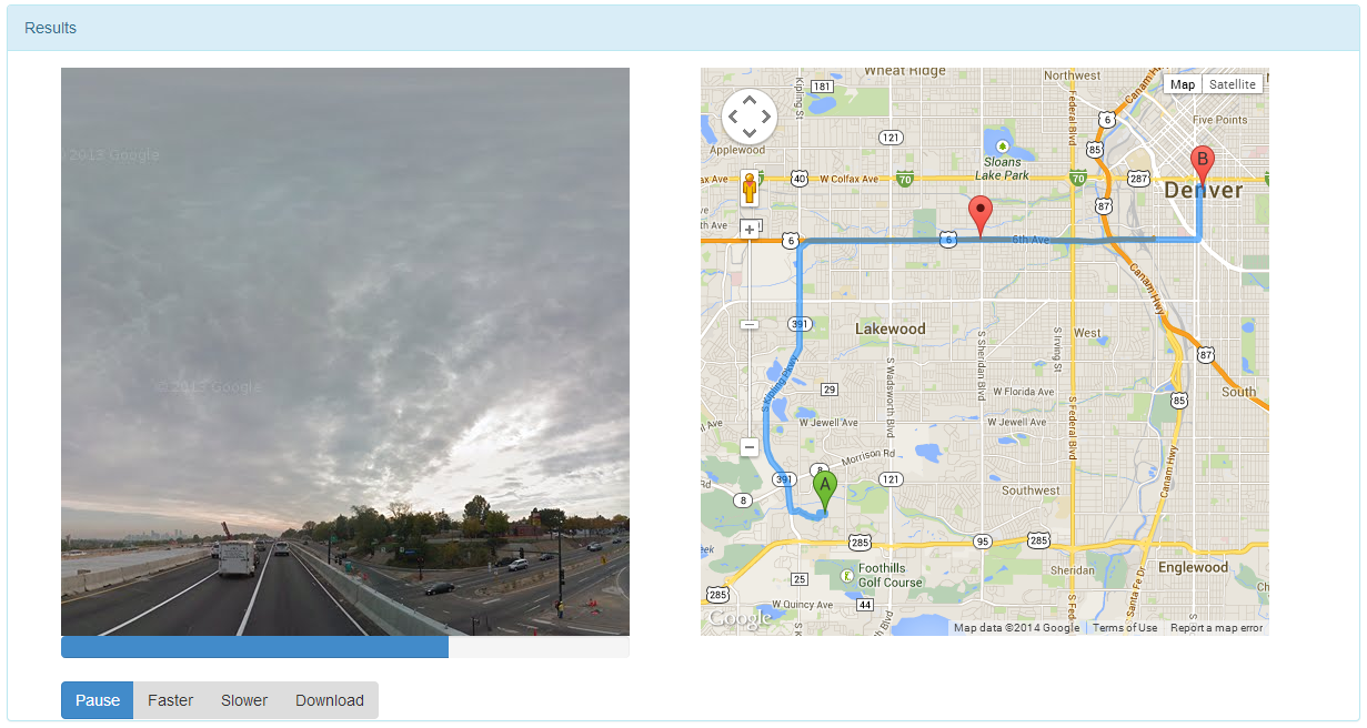 Streetview Player- screenshot