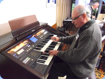 George Watt playing the Technics GA3 organ for the Arrival Music