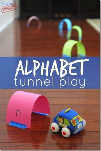 Alphabet Tunnel Play #preschool #alphabet