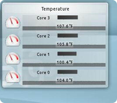 Temperature Widget KDE