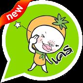 Orange Man Emoticons -Thailand