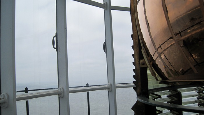fresnel lens in Yaquina Head Lighthouse
