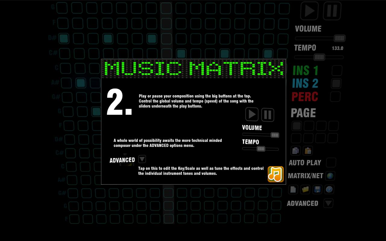 Music Matrix - screenshot