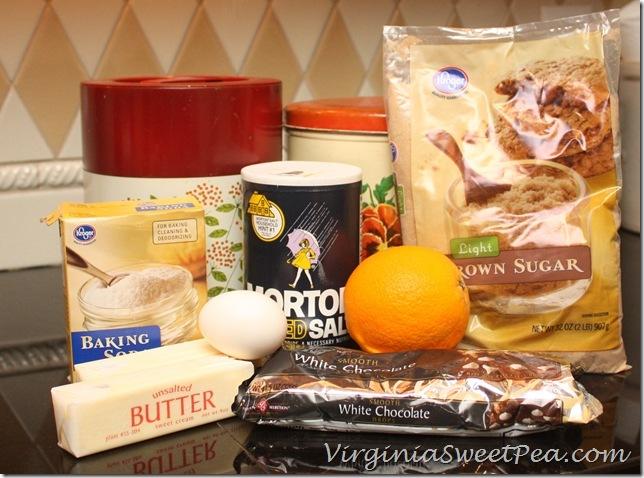 White Chocolate and Orange Cookies Ingredients