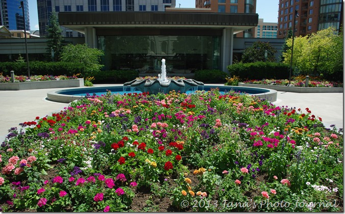 Flower Beds in Front of Temple Square Visitor Center