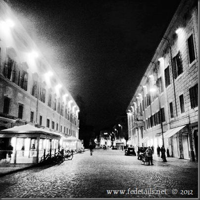 Corso Martiri della libertà by night, Ferrara, Emilia Romagna,Italy- Property and Copyrights of fedetails.net