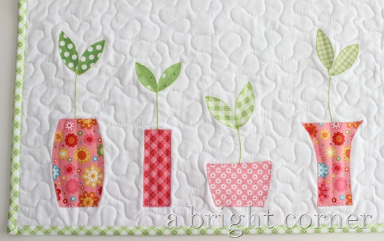 Sprouts Table Runner and Topper pattern