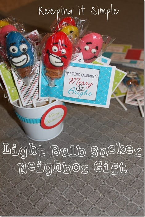 light bulb sucker neighbor gift #freeprintable
