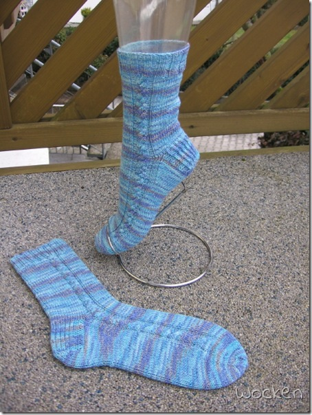12/13 Türkise Zopfsocken