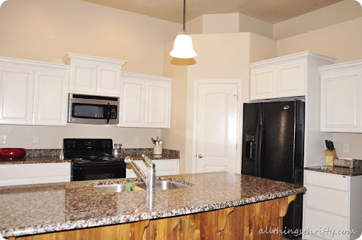 Painted White Kitchen Cabinets Before And After. How To Paint Cabinets  White Painted Kitchen Before